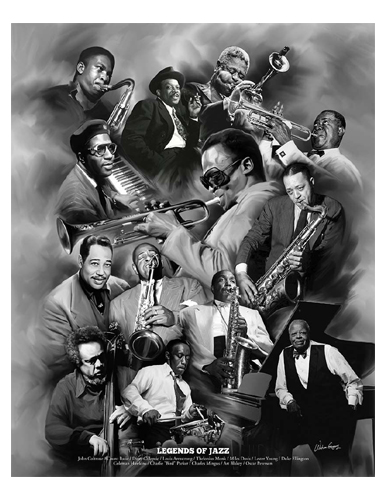 CHICAGO 1956-12x12 LIONEL HAMPTON /& ELSIE SMITH JAZZ MUSIC POSTER-TED WILLIAMS