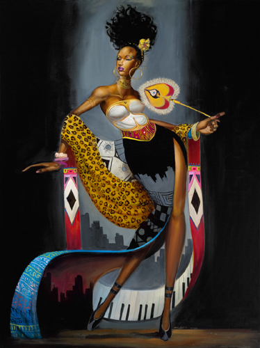 AFRICAN AMERICAN ART PRINT Midnight Crossover Frank Morrison