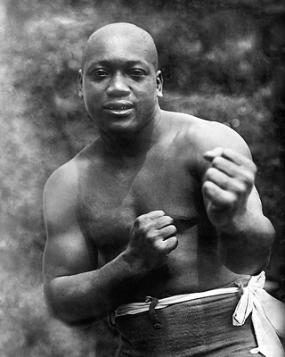 Boxer Jack Johnson, Early Portrait c. 1909