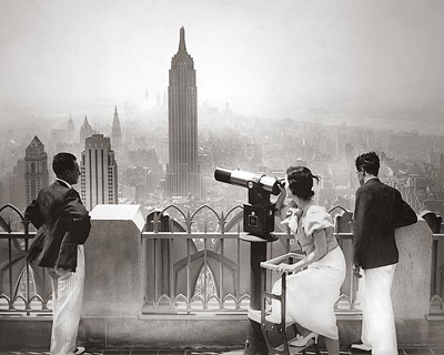 Empire State Building & Manhattan Skyline from Rockefeller Center, 1930s