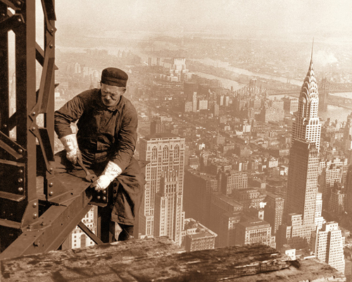 Worker Atop Empire State Building, 1930