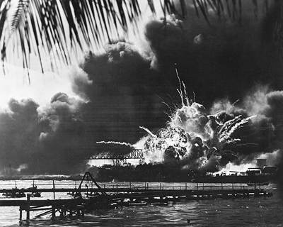 USS Shaw Explodes at Pearl Harbor, December 7, 1941