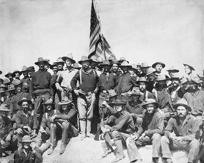 Theodore Roosevelt and the Rough Riders, San Juan Hill, Cuba, July 1, 1898